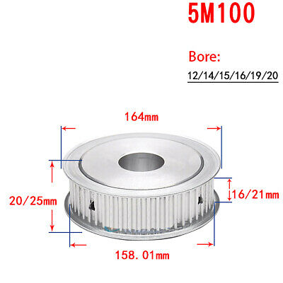 5M-28T Timing Pulley Synchronous Wheel Bore 12mm//19mm for Reprap 3D Printer CNC