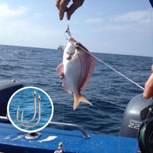 9260 White Stainless Steel Fishing Hooks Saltwater Live Bait Bass Circle Hooks