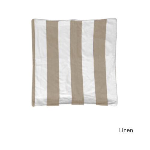 Striped 100/% Cotton European Piped Cushion Cover 60 x 60cm