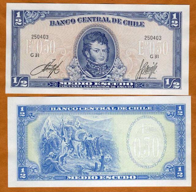 Chile, 1/2 Escudo, ND (1962-1975), Pick 134A, UNC