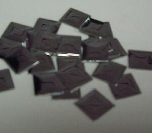 100 x 10mm DARK BRONZE SQUARE HOTFIX IRON ON NAILHEAD  beads