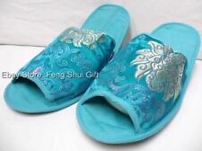 Chinese Oriental Ladies Women Silk Spa Travel Airplane Shoe Slipper Sandal #QF