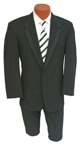 Men/'s Black Chaps Hudson Tuxedo with Pants Prom Masonic Wedding Cheap Tux 48L