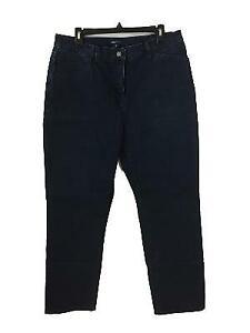 Jones-NY-Signature-jeans-size-14-dark-wash-blue-denim-some-stretch-4-pockets
