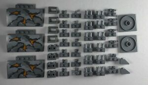 Lego-Light-Bluish-Gray-Modified-Brick-Plate-Slope-New-47-Parts-Pieces-Lot
