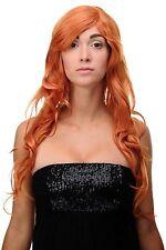 Perücke Orange Orange-Rot Locken Wellig Lang Seitenscheitel 70cm 9204S-T2735
