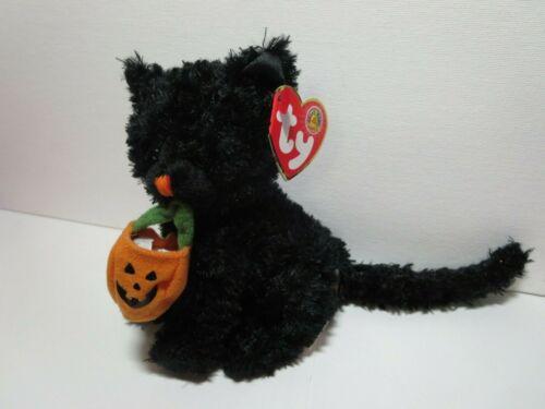 Ty Beanie Babies Jinxed the black cat w// jack-o-lantern Mint w// Tag 2007