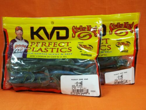 "6ea 2 pks 5.25/"" STRIKE KING Perfect Plastics Magnum Game Hawg #GH5.25-850"