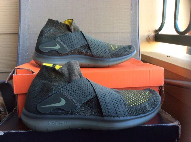 c3de7754b49 Nike RN Motion Flyknit 2017 Mens 880845-301 Sequoia Running Shoes Size 10.5