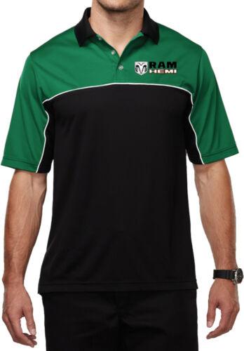 Mens Dodge Ram Hemi Logo Pocket Print Polo Shirt