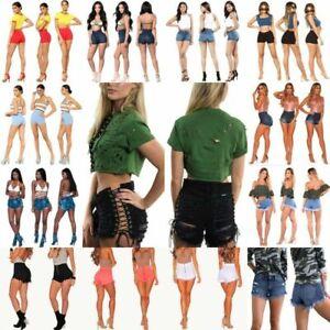 Women-039-s-Girl-Sexy-High-Waist-Denim-Shorts-Ripped-Tassel-Jeans-Mini-Shorts-Pants