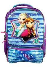 FROZEN GIRLS 3D BACKPACK BAG.NEW OFFICIAL ELSA ANNA REFLECTIVE SCHOOL  RUCKSACK d8c371a4c0c18