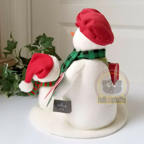 Hallmark 2018 Special Delivery Snowmen Postman Pals Sing Musical Techno Plush