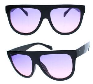 Grosse-Damen-Sonnenbrille-im-Designer-Stil-Flat-Top-halb-rund-FT71