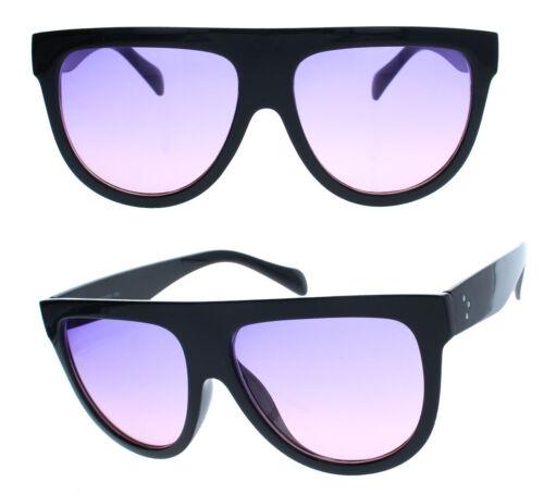 Grandi occhiali da sole da donna in stile Designer Flat Top semicircolare ft71