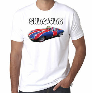 494dc768 E-Type Jaguar Union Jack Shaguar Austin powers inspired mens tshirt ...