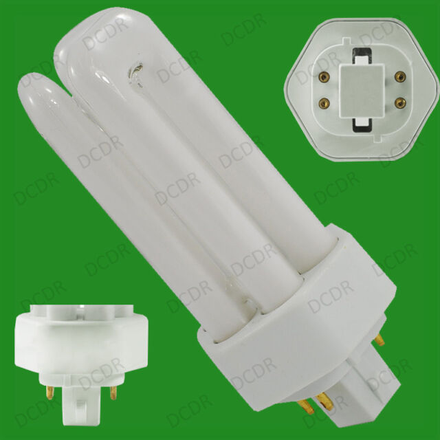 18W (=100W) Low Energy GX24Q-2 4 pin 4000K Cool White CFL 840 Light Bulb Lamp