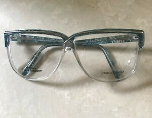 LAURA BIAGIOTTI AUTHENTIC VINTAGE 80s WOMEN EYEGLASSES blue/clear frame.ITALY