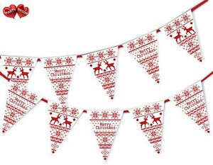 Merry-Christmas-jumper-pattern-reindeers-Bunting-Banner-15-flags-by-PARTY-DECOR