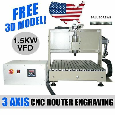 1.5KW 3AXIS CNC 6040 ROUTER ENGRAVER Engraving Drilling Carving Desktop Sale