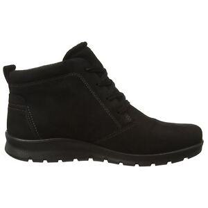 0069033ca6 Details about Ecco Babett Low Cut Lace Gore-Tex Black Womens Boots
