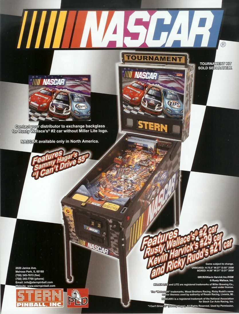 Big Game stern Pinball chip rom set
