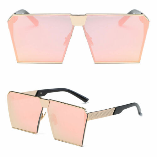 Oversized Large XXL Stardust Metal Aviator Mirror Sliced Irresistable Sunglasses