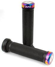 Snafu Mountain Bike BMX Handlebar Lock On Grips - Jet Fuel Oil Slick RRP£29.99