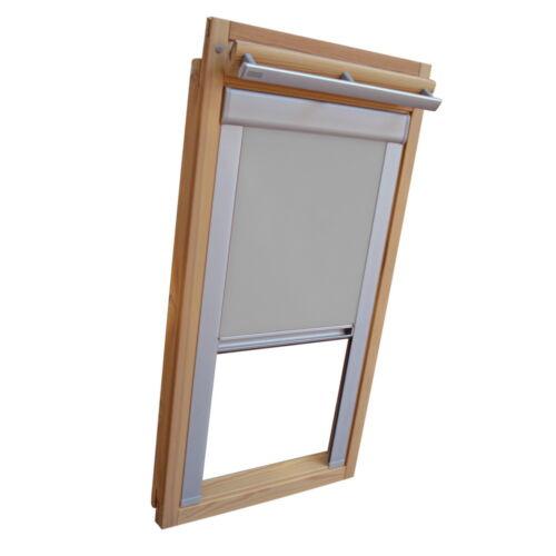 grau Dachfensterrollo Verdunkelung für Velux Dachfenster VL//VF//VT