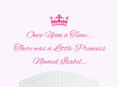 Once Upon a Time Princess Isabel Wall Sticker Decal Bed Room Art Girl//Baby