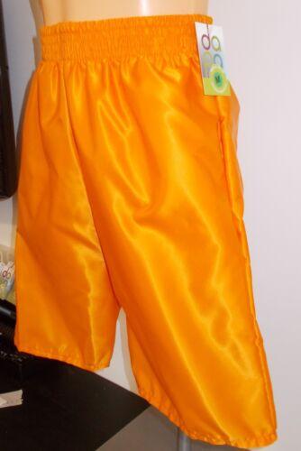 con in da 4xl satinato arancione nylon S tasche Shorts mare qZXxFwT