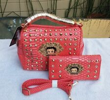 Betty Boop barrell  with matching wallet coral
