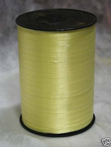 "Pastel Yellow 3//16/"" Curling Ribbon 500 Yards Spool"