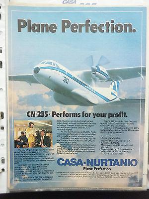 5/1986 Pub Avion Casa Nurtanio Cn-235 Passenger Spanish Aircraft Flugzeug Ad