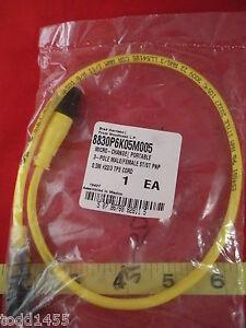 Woodhead-Brad-Harrison-8830P6K05M005-3-pole-Connector-pnp-5m-tpe-22-3-Cord