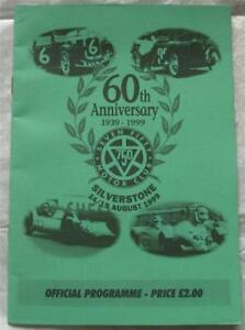 SILVERSTONE 14/15 Aug 1999 60th Anniversary 750 Motor Club Official Programme
