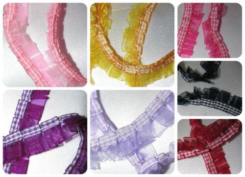 7 Colours Free UK Post Organza Trim By The Metre Ribbon