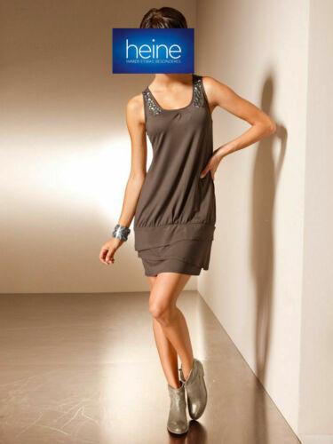 Taupe KP 59,90 € /%SALE/% Nietenverzierung NEU!! Shirtkleid MANDARIN by heine