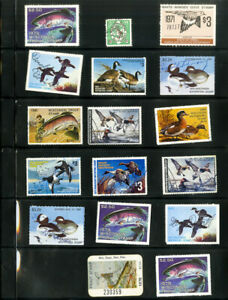 US-Selection-Of-17-Wildlife-Stamps