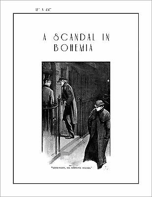 Sherlock Holmes poster A Scandal in Bohemia