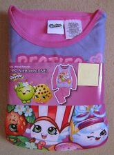 SHOPKINS - 2pc Pnk L/S Shirt Micro Fleece Pajamas Pjs Girls sz 10/12
