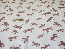 Viscosa georgette-horse print-ivory / Marrone-Abito fabric-free P&P