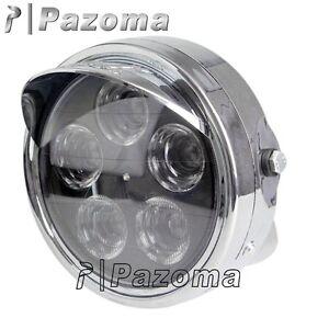motorrad 7 rund led scheinwerfer lampe f r harley honda. Black Bedroom Furniture Sets. Home Design Ideas