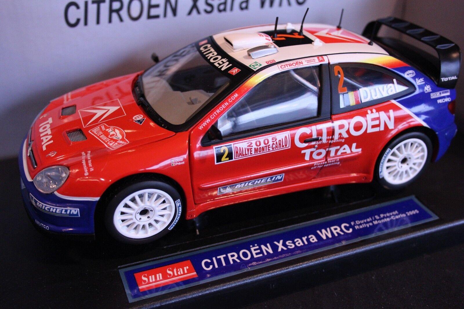 Sun Star Citroën Xsara WRC 2005 1 18  2 Duval   Prévot Rally Monte Carlo (AK) ç