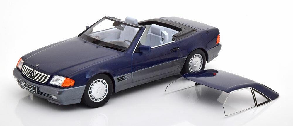 Kk Scala modelloli 1993 Mercedes 500 Sl R129 Conv con Tettuccio Rigido Blu Met