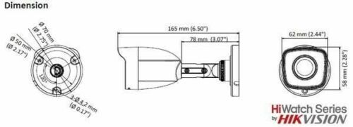 Hik Vision HWT-B120-M Kamera Bullet Turbo HD 1080p 2.8 2Mpx IP66