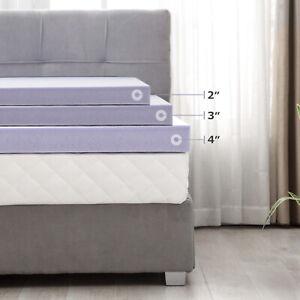 Twin Size Comfort Gel Memory Foam Mattress Topper 2 Foam Mattress Pad Ebay