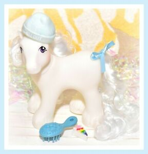 My-Little-Pony-MLP-Vtg-G1-Style-HQG1C-Big-Brother-Boy-Frost-White-Custom