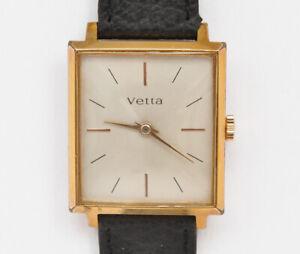Vetta-elegant-gold-034-carre-034-1960-watch-perfect-nearmint