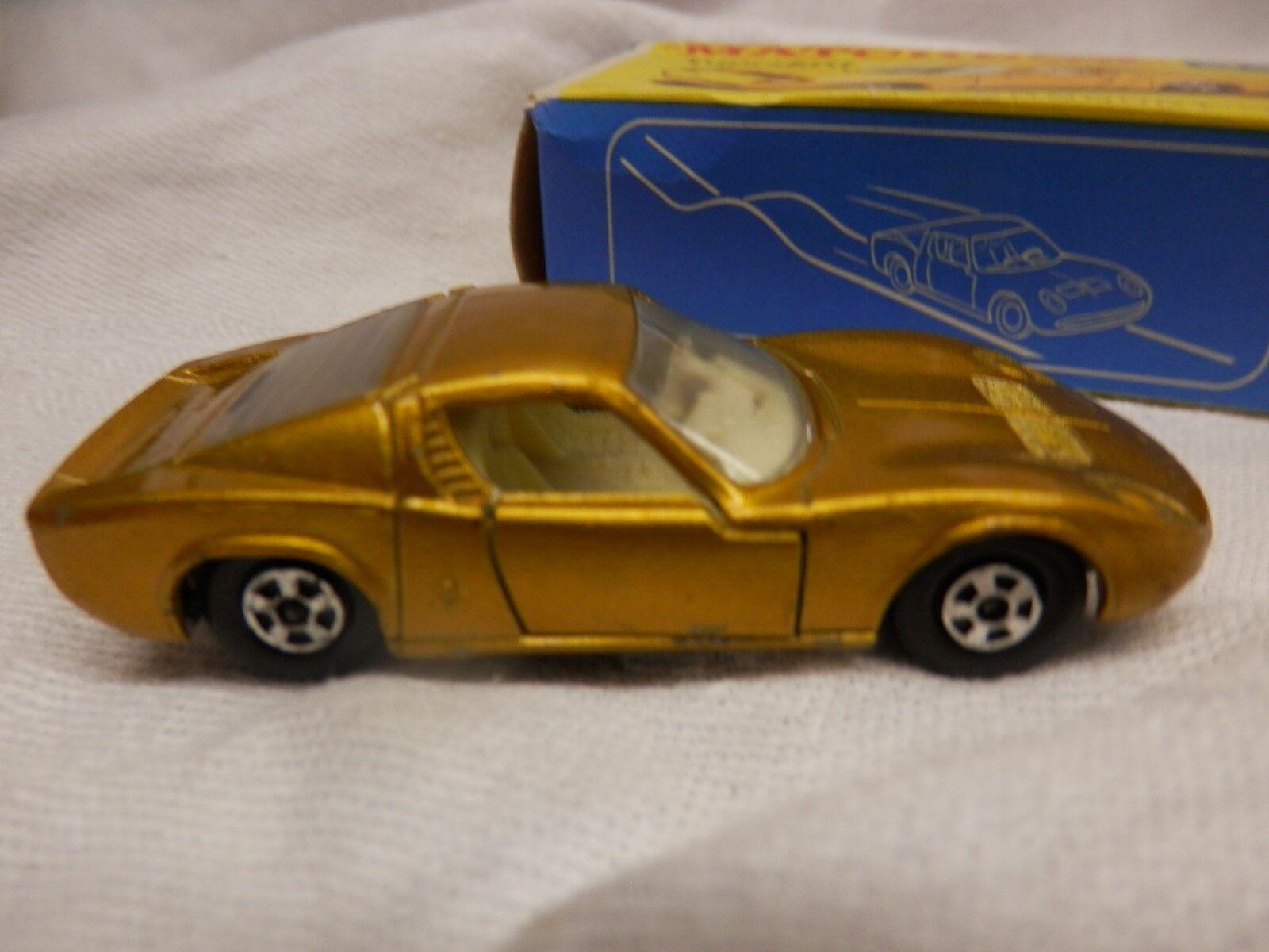 Matchbox 1969 Lamborghini Miura 1 64 Diecast Car Series Lesney No.33 gold